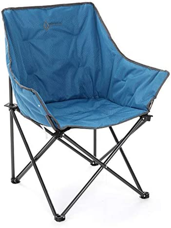 Arrowhead Outdoor Portable Folding Camping Quad Bucket Chair, Compact, Heavy-Duty, Steel Frame, Supports up to 250lbs, Includes Carrying Bag, USA-Based Support