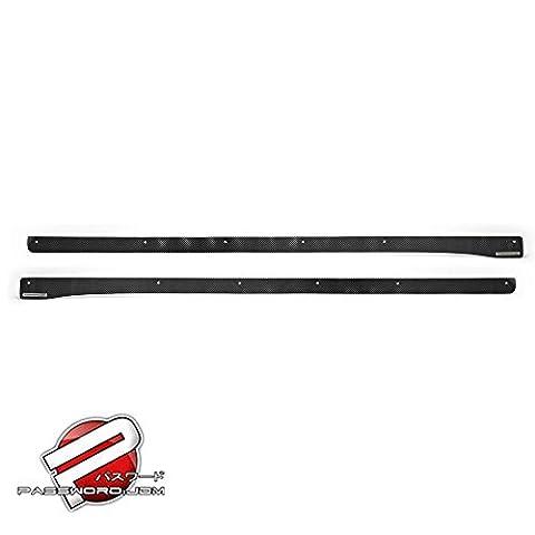 Password JDM Dry Carbon Fiber Side Splitter 2012+ Honda Civic 2Dr Coupe Only - Honda Civic 2dr Carbon