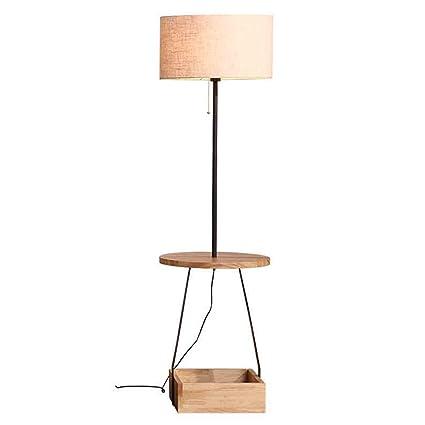 Industrial table lamp Lámpara de pie de Madera Europea ...