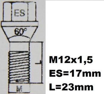 Vauxhal Corsa D Models 2006 To 2014 Heyner Germany StillBull Locking Wheel Nuts Removal Key M12x1.5 Set 4 Locks Alloys Antitheft Protection Bolts I3