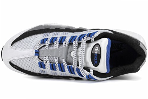 Nike Air Max 95 Mens Bianco / Palestra Blu / Antracite / Nero
