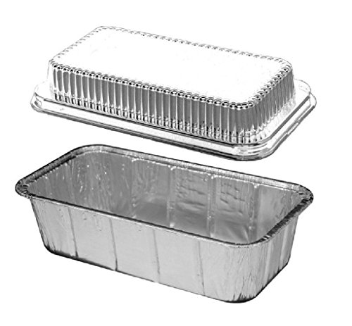 2 Lb Aluminum Foil Loaf Bread Pan Tin W Dome Lid Heavy