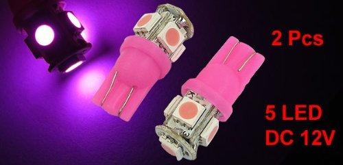 Amazon.com: eDealMax 2 PC T10 cuña rosa 5050 Bombillas LED SMD 5 lado del Freno de la lámpara Para el coche: Automotive