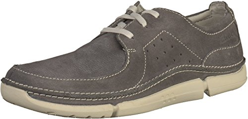 Clarks Casual Hombre Zapatos Trikeyon Fly En Ante Gris Tamaño 46