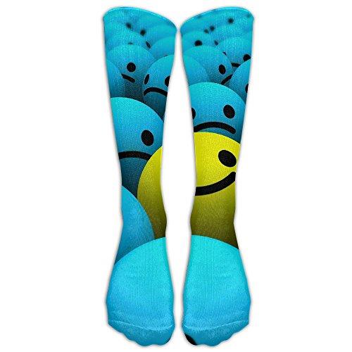 Jack The Ripper Costume Plus Size (Cute-3D Smile Cotton Thick Long Soccer Socks For Men And Women - Running & Fitness - Best Medical, Nursing, Travel & Flight Socks)