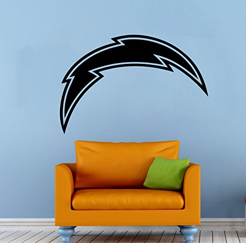 Poster Logo Sports (Los Angeles Chargers Vinyl Decal Wall Sticker NFL Emblem Football Team Logo Sport Poster Home Interior Removable Decor)