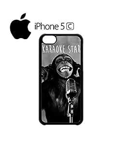 Monkey Karaoke Star Bad Mobile Cell Phone Case Cover iPhone 5c Black