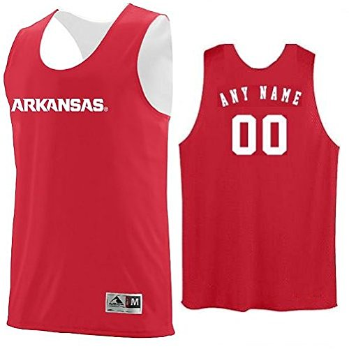 Arkansas Razorbacks CUSTOM (Name/#) or Blank Back Reverisble Basketball Jersey NCAA Officially Licensed Youth & Adult Tank Tops