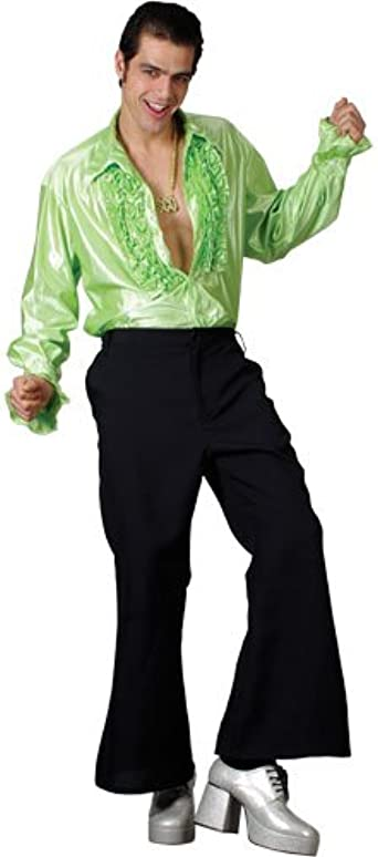Adult 1970s Hippy Costume Disco Hippie Flares Mens Womens Fancy Dress Outfit