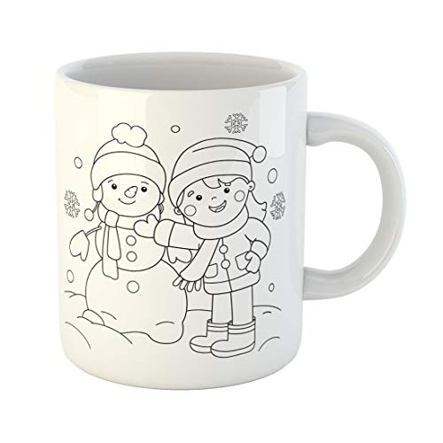 Semtomn Funny Coffee Mug Active Coloring Page Outline