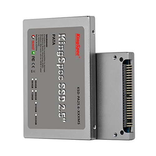 128GB KingSpec 2.5-inch PATA/IDE SSD Solid State Disk (MLC Flash) SM2236 Controller (2.5 Ide Drive)