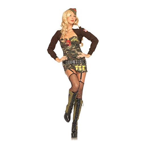 [Bombin' Betty Costume - Medium - Dress Size 8-10] (Pin Up Girl Costume Halloween)