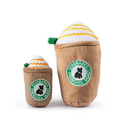 Haute Diggity Dog HDD-029-LG Starbarks Frappucino with Straw, Large Diggity Dog Toy