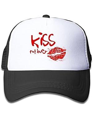 Kiss My Lover Baby AdjustableTrucker Visor Cap Cute Hat
