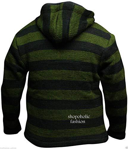 À Rançonné Vert Hippie Veste Rayures Mode Shopoholic Noir Hommes v0ABgIBE