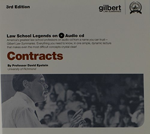 Law School Legends Audio on Contracts (Law School Legends Audio Series) by Gilbert