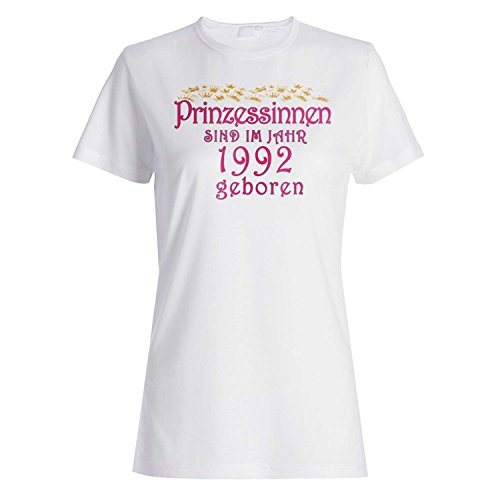 Prinzessinnen sind im jahr 1992 geboren Damen T-shirt cc18f
