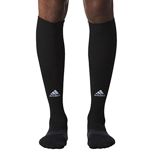 adidas Metro IV Soccer Socks, Black/White/Night Grey, Large