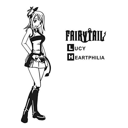 Shentop Pegatina Fairy Tail Lucy Sticker Anime Cartoon Car Sticker ...