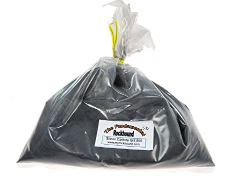 Fundamental Rockhound Products: 2 lb 500 Fine GRIT for rock tumbling polishing and vibratory laps Silicon Carbide ()