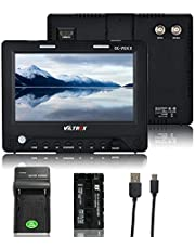 """VILTROX DC-70EXKit 7""""HD IPS Pantalla Cámara Video Monitor de Campo Soporte SDI 4K HDMI Entrada para Canon Nikon Sony DSLR Cámara BMCC BMPC con batería NP-F550 y Cargador USB"""