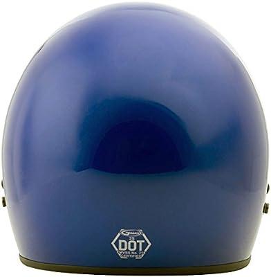 Amazon.com: G-Max GM2 Solid casco, XS, Azul: Automotive