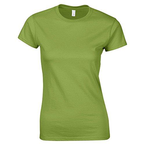Gildan gd072–Camiseta para mujer en algodón con cable de cadena continua (Ring-Spun) SoftstyleTM Verde