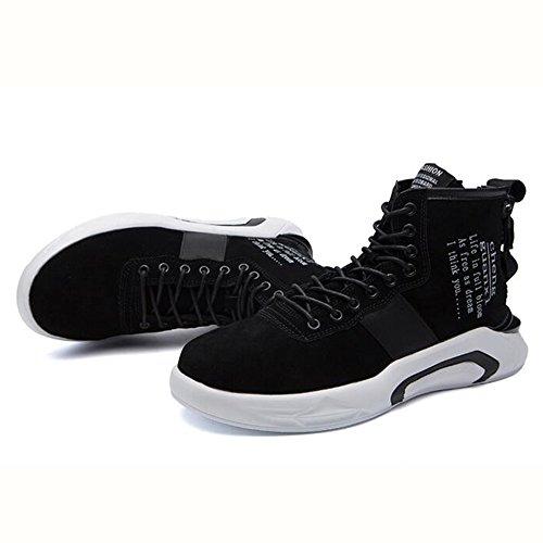 Men's Shoes Feifei Spring and Autumn Leisure High Help Tide Shoes 3 Colors (Color : Black, Size : EU39/UK6.5/CN40)