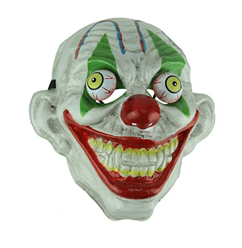 Green Eye Old Looking Creepy Googly Eyed Clown Mask]()