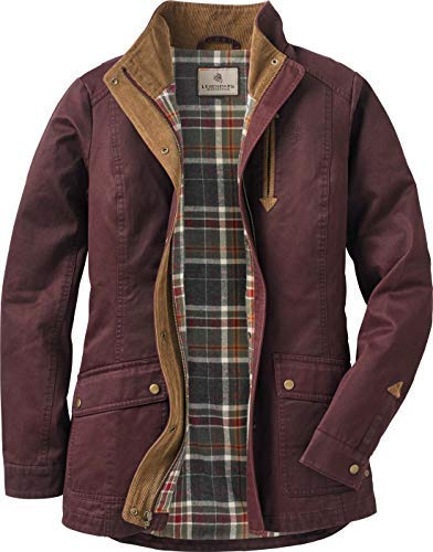 (Legendary Whitetails Women's Saddle Country Shirt Jacket Rusty Maroon Large)