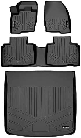SMARTLINER Custom Fit Floor Mats 2 Rows and Cargo Liner Trunk Set Black for 2016-2018 Lincoln MKX / 2019-2021 Nautilus.