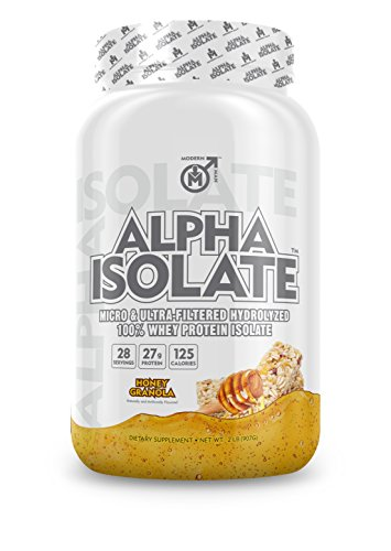 ALPHA ISO - Whey Protein Isolate Powder | Best Tasting 100% Grass Fed Whey | Low Carb Protein Powder for Lean Muscle Building & Weight Loss, Post Workout Supplement for Men, Honey Granola, 28 Sv ()