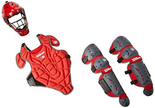 Scarlet Pro Leg Guards - Wilson EZ Gear Kit, Scarlet, Small/Medium