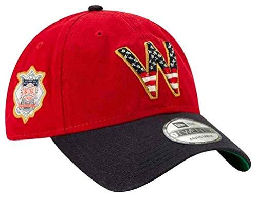 Hat Era Ball Cap New - New Era 2019 MLB Washington Nationals July 4th Flag Baseball Cap Hat 9Twenty Red/Navy