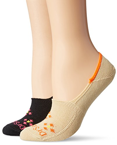 Dr. Scholl's Women's 2 Pack Scrub Crew Socks, Black/Boulder, Shoe Size 4-10 (Dr Scholls Scrub)