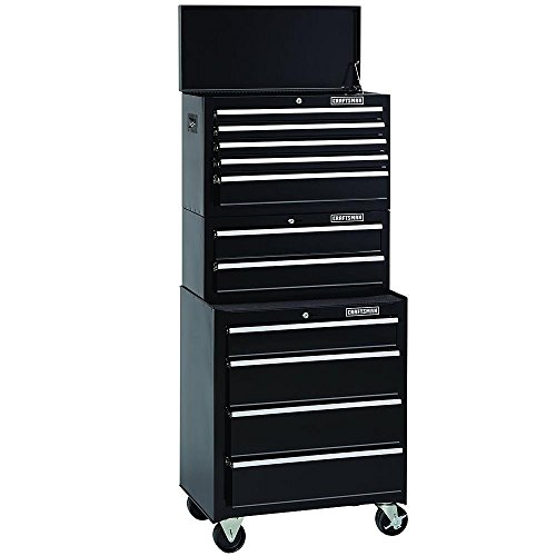 Quality Steel Roller Tool Chest Set, 3 Piece Metal Toolbox Combination. This Huge 11-drawer Standard Duty Ball-bearing 3-pc Cabinet Combo Solid Storage Solution Is Great for All Workshops - 3 Year Warranty on Tool Chests!