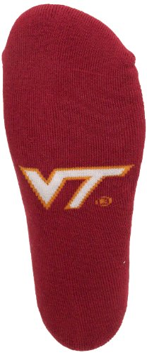 Donegal Bay NCAA Virginia Tech Hokies No Show Footie Socks, Burnt Orange/Maroon