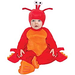 Lovable Lobster Halloween Costume - Ages 6 Months - 2T