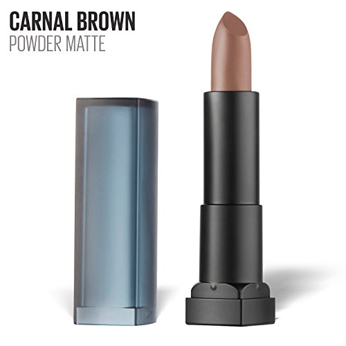 Maybelline New York Color Sensational Nude Lipstick Powder Matte Lipstick, Carnal Brown, 0.15 oz