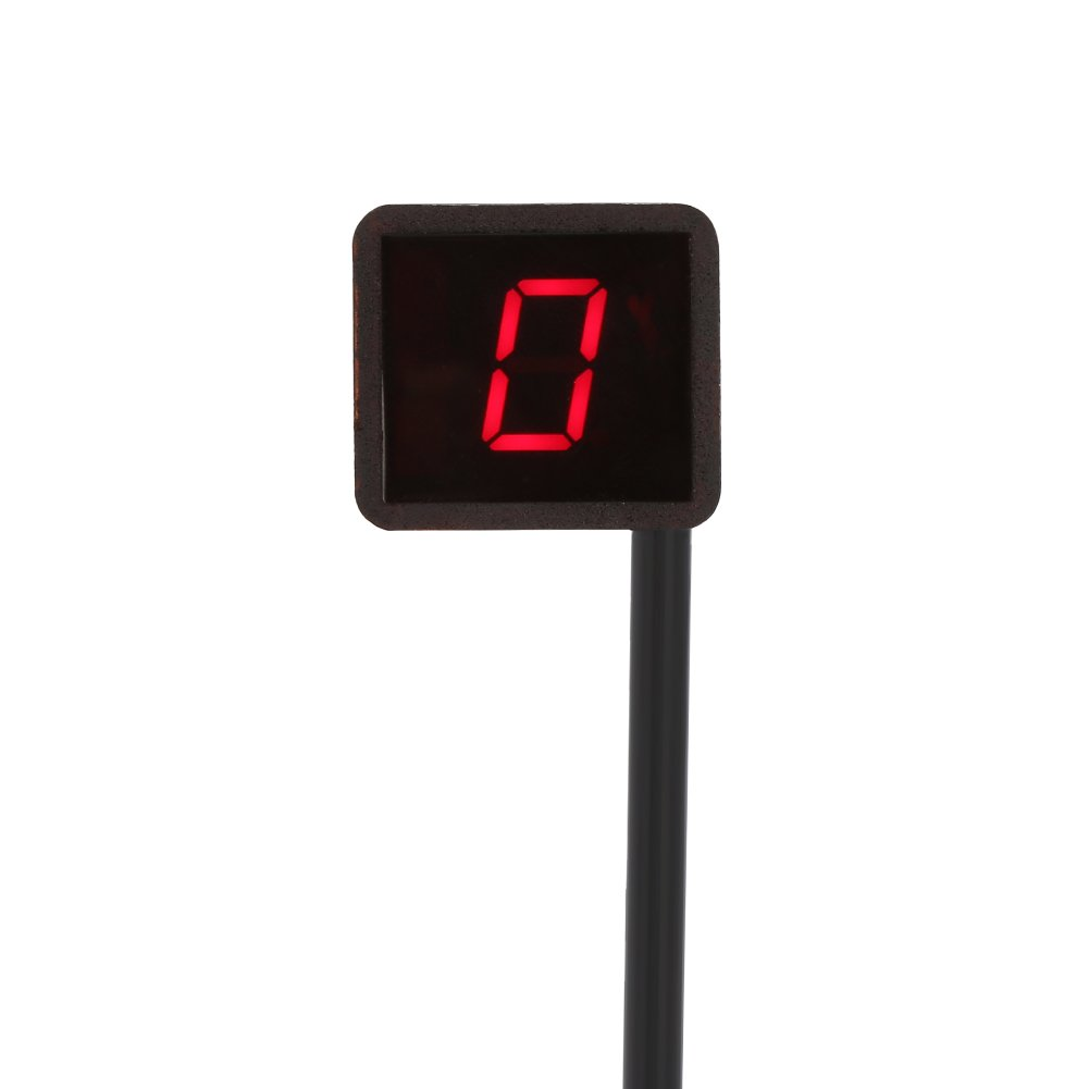 Yosoo Universal Digital LED Gear Indicator Motorcycle Display Shift Lever Sensor Red