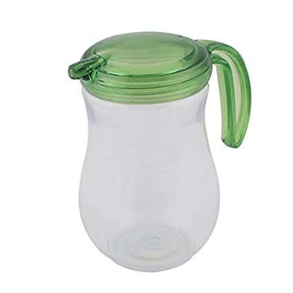 eDealMax de plástico con tapa de Hogares Shanked Aceite Vinagre Botella Salsa bote verde