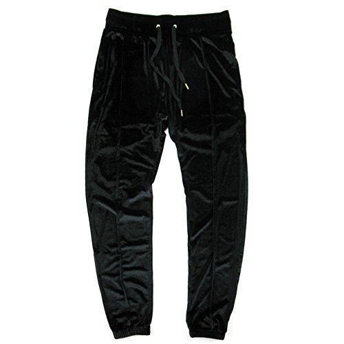VFIVE UNFOUR Unisex Velvet Velour Running Gym Jogging Pants Black M