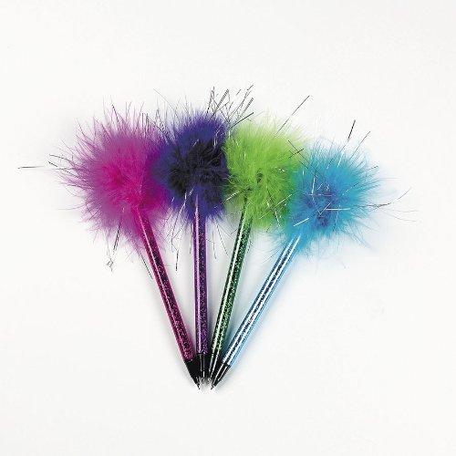Fun Express Marabou Pens (2 Dozen) | Children's School Supplies & Party Favors