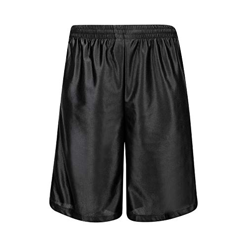 Asysst Men's Mesh Long Basketball Gym Shorts with Pockets Small, Black/132 ()