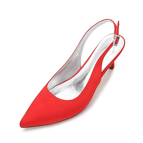 Verano de shoes Aguja high Red Las Primavera de Plataforma de Negro Purole Plataforma Blanco Tacón Marfil Verano Boda Rojo Mujeres Elegant de qf0x564ww