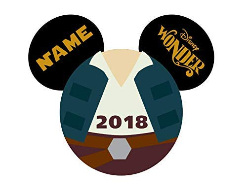LARGE Personalized Disney Hans Solo Star Wars Inspired Magnet for Disney Cruise with your Name -