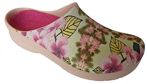 Picture ''Jolly from Alpro Marron Polyurethane Flowers Classic in Clog'' Synthetic Clogs Pink RwXXqxtO