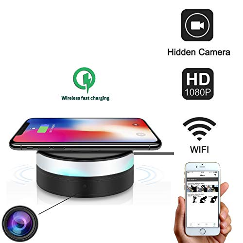 Mini Spy Camera WiFi Hidden Camera – 1080p HD Wireless Charger Cam-Best Indoor Home Hidden Security Cameras-Motion Detection, Remote Viewing Nanny cam -for Android/iPhone/iPad/Pc.