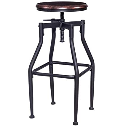 Tremendous Amazon Com Goodgoods Llc Vintage Bar Stool Solid Wood And Gmtry Best Dining Table And Chair Ideas Images Gmtryco