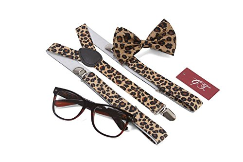Gravity Trends Hipster Nerd Outfit Kit, Cheetah]()